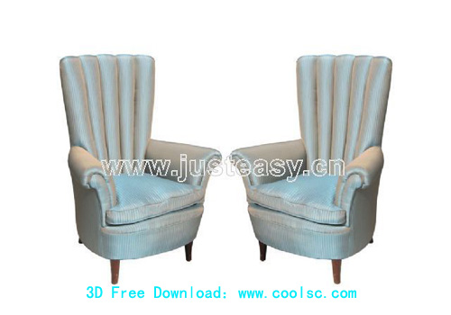 High back sofa, sofa, furniture, sofa, chair, 3D model