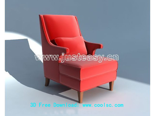 Single sofa, Continental, chair, furniture, chairs, 3D model