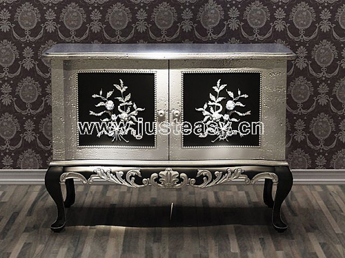 Mansion entrance cabinets, European style, furniture, cabine