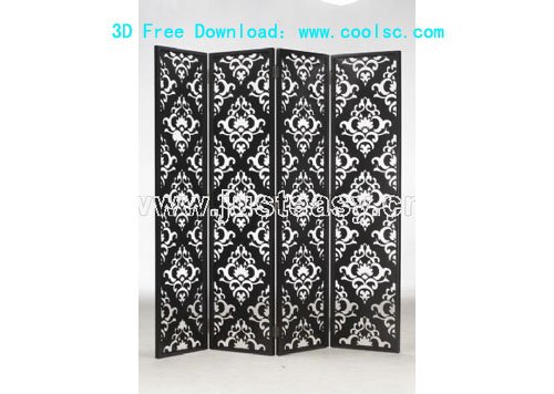 Bao Yang wall panels, screens, furniture, 3D model