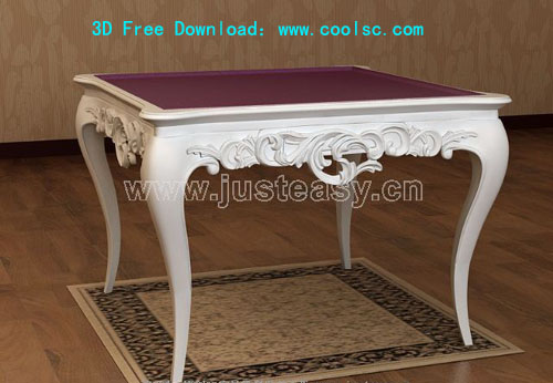 Bao Yang European neo-classical table, desk, furniture, 3D m