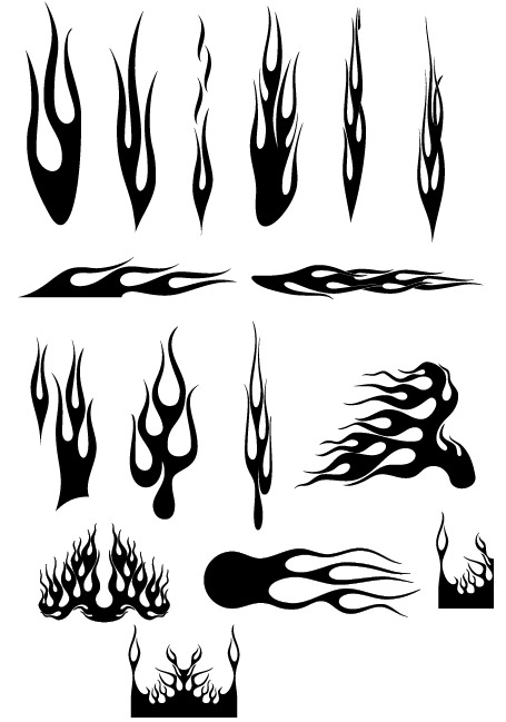 Cool Fire Design Vector Fire a Variety of Cool