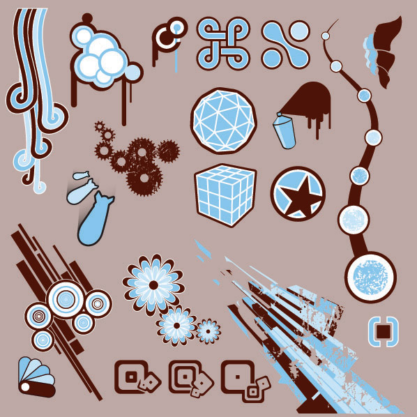 Vector design elements tide -6