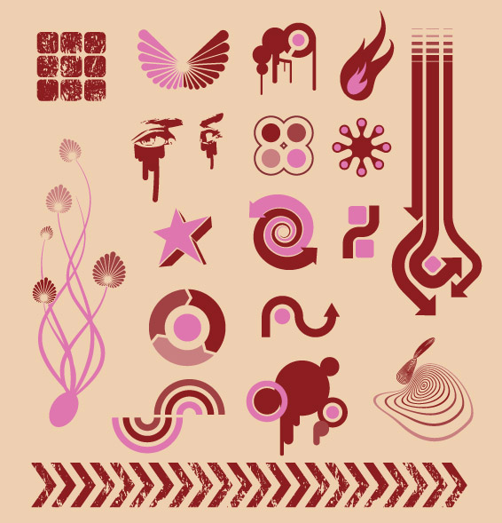 Vector design elements tide -10