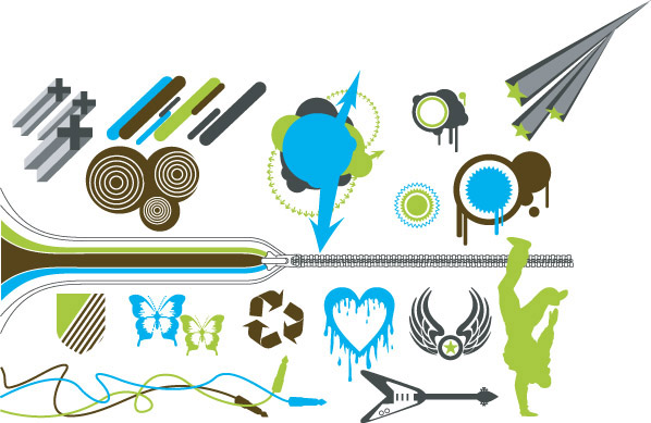 Vector design elements tide -12