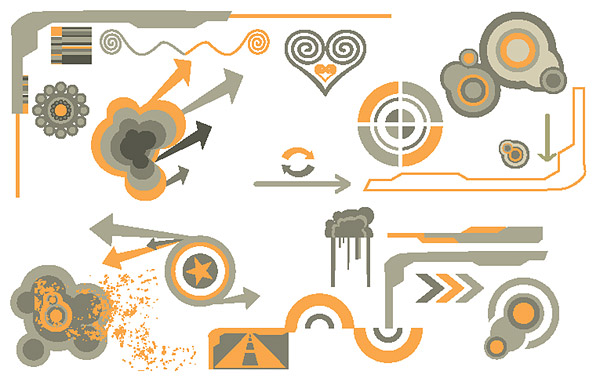 Vector design elements tide -17