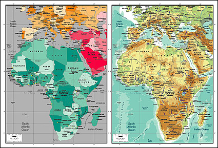 Vector map of the world exquisite material - Africa map