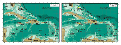 Vector map of the world exquisite material - Antilles Map