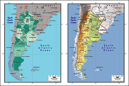Vector map of the world exquisite material - Argentina Maps