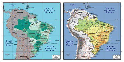 Vector map of the world exquisite material - Brazil Maps