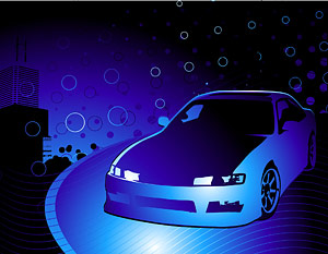 Vector cars and cool background material