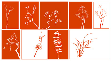 A variety of classical plant vector material
