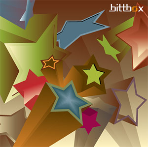 3D Stars Vector background material