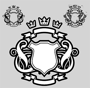 Crown Shield Vector Design