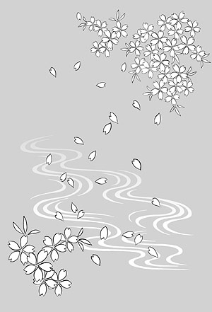 Japanese Line Drawing Of Plant Flowers Vector Material 19