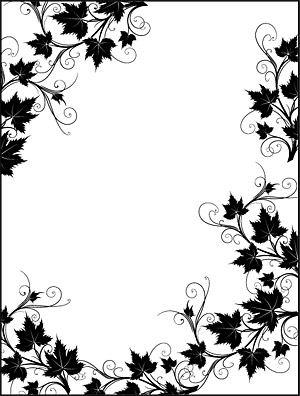 Black And White Lace Border Vector Rattan Plant Material