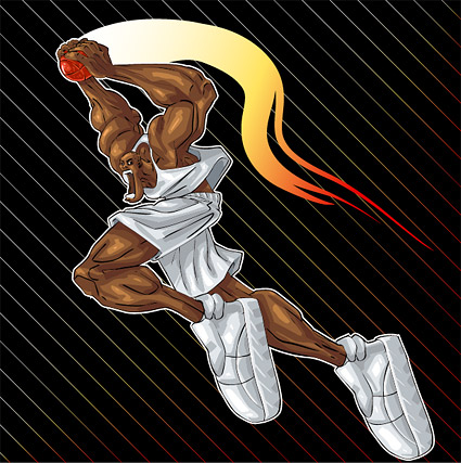 Vector cartoon character style dunk material