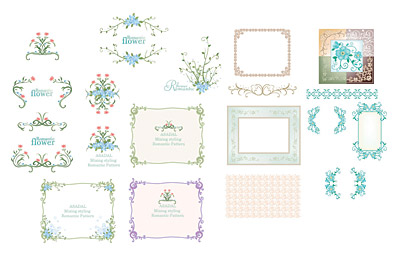 South Korea vector lace material Series -5