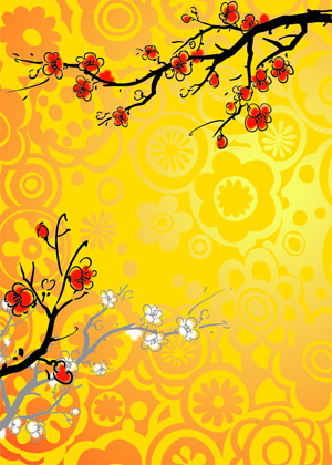 Chinese style floral pattern vector graphic 03 free | Free download
