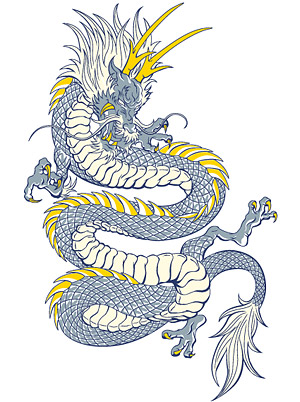 Cool Chinese dragon vector material -1