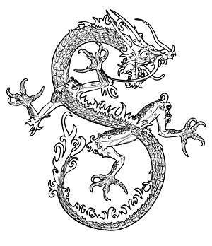 Cool Chinese dragon vector material -3