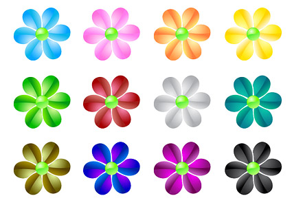 material crystal flower vector web2.0