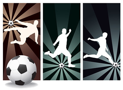 People silhouette Vector football material