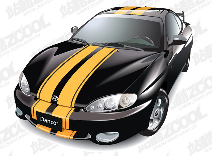Vector sports car material HUNDAI tubiron