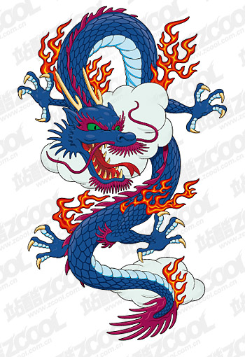 The mighty Chinese dragon vector material