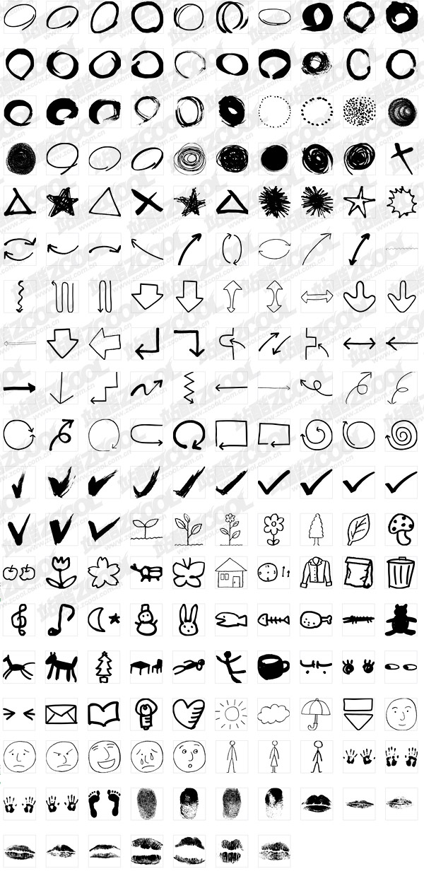 187 all kinds of useful material vector graphics