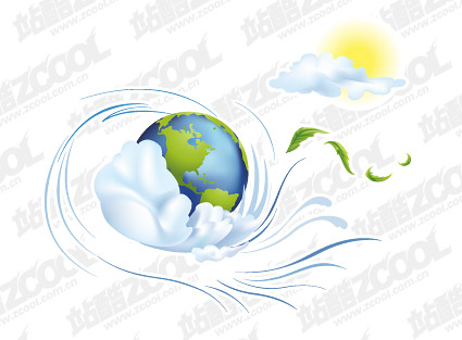 Dynamic Earth illustrator vector material