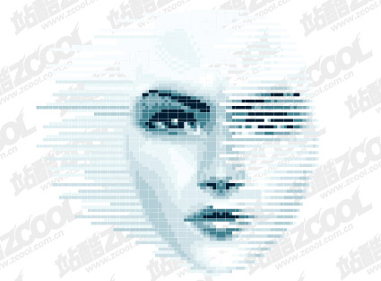 women face vector of digital material graphic hive