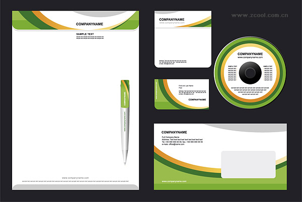 VI simple business template vector material