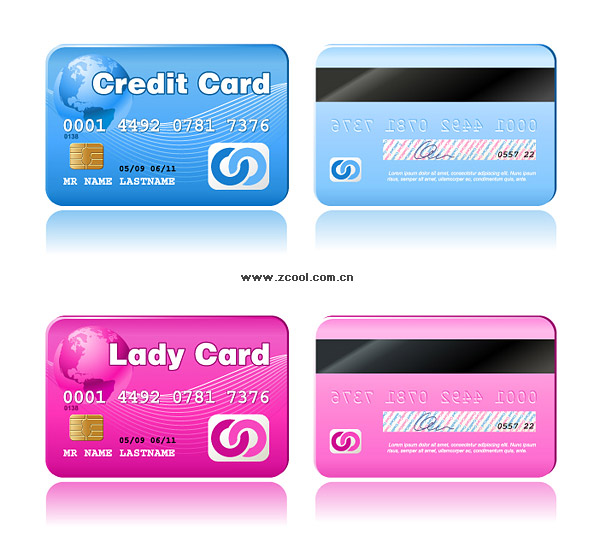 Exquisite Credit Card Vector material