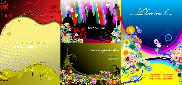 4, the trend of illustrator vector flower pattern material