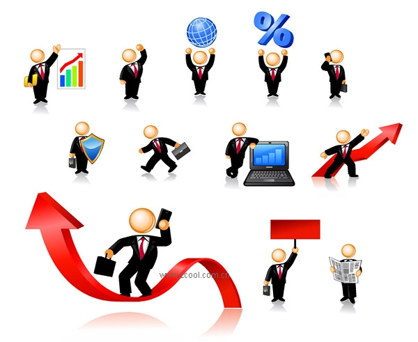 The image of business people icons Vector material