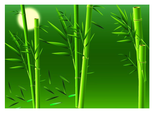 Realistic bamboo Vector material