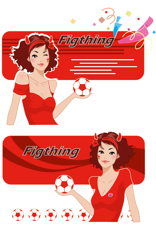 Hot football Baby Vector material