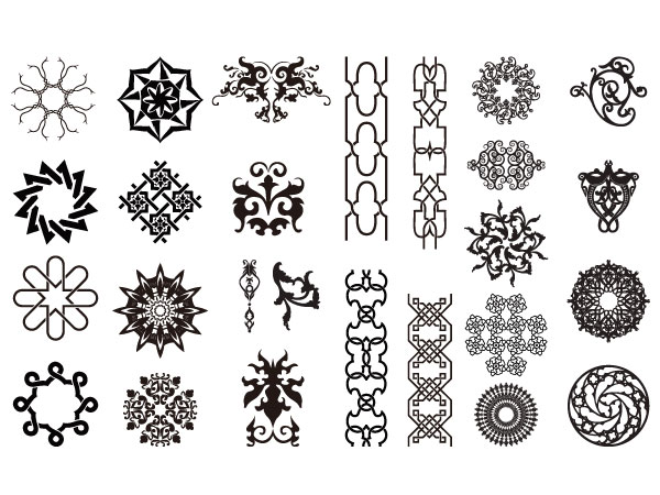 Go Media Chupin trend vector material Set15-arabesque