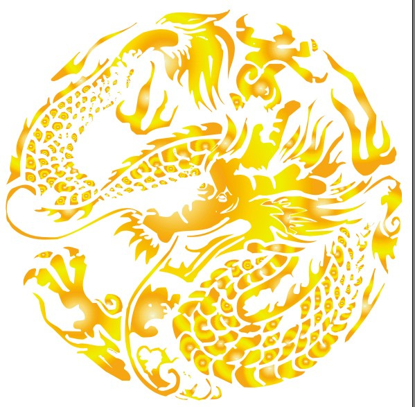 Traditional Chinese dragons vector