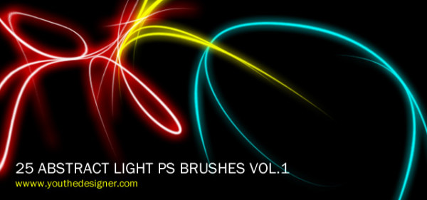 25 Abstract Laser Light Brushes Photoshop Graphic Hive