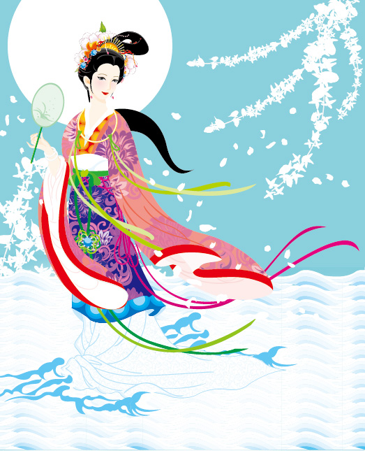 Flying Fairy Vector Image -4