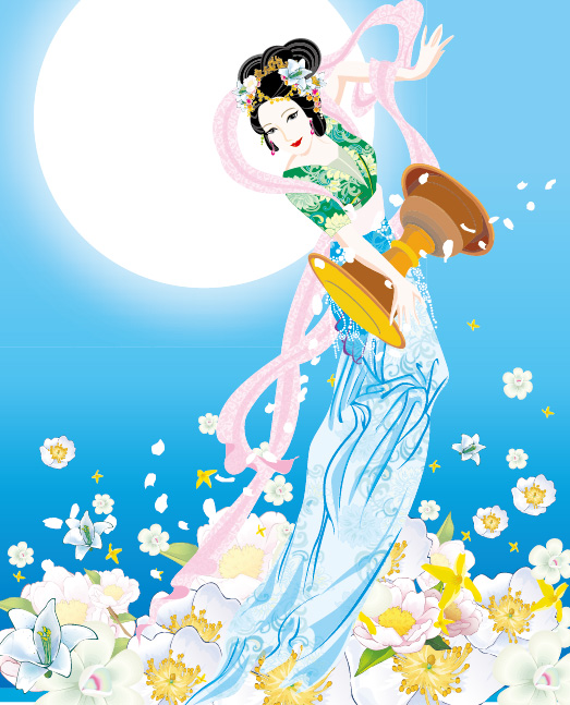 Flying Fairy Vector Image -3