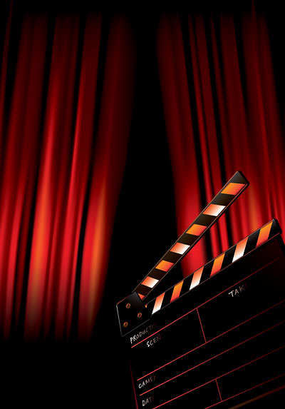 Blank Movie Poster Template Movie poster background vector