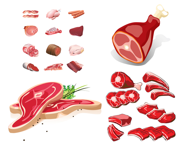 fresh meat vector graphic| graphic hive, Powerpoint templates