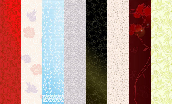 Featured flowers vector background material -1