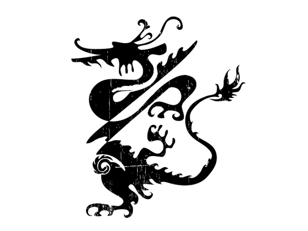 One of the classic Chinese dragon vector material