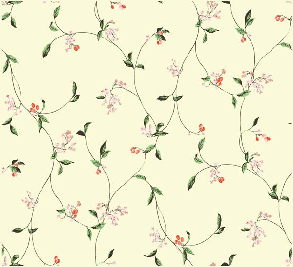 Simple And Elegant Flower Pattern Background Vector