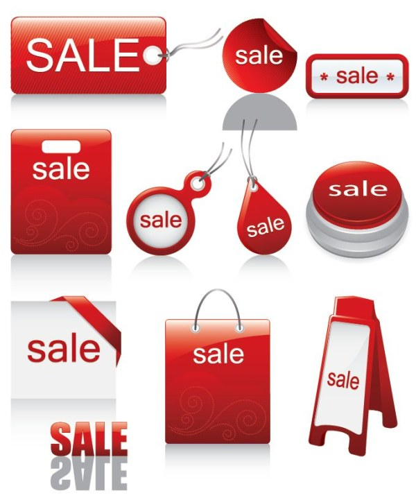 Sell Icon Designs Red And Sell Discounted Icon