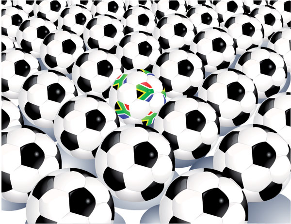 A lot of football vector material